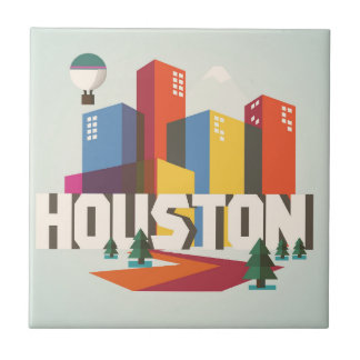 Houston, Texas | Cityscape Design Ceramic Tile