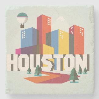 Houston, Texas | Cityscape Design Stone Coaster