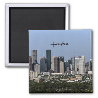Houston, Texas cityscape Square Magnet