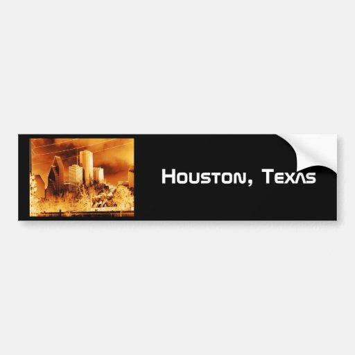 Houston,Texas gold skyline Bumper Sticker