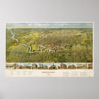 Houston Texas in 1891 Poster