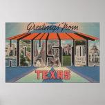 Houston, Texas - Large Letter Scenes 3 Print