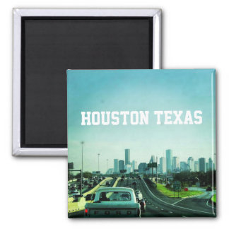 Houston Texas (Magnet) Square Magnet