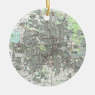Houston Texas Map (1992) Ceramic Ornament