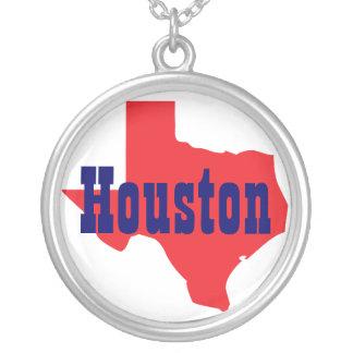 Houston Texas Round Pendant Necklace