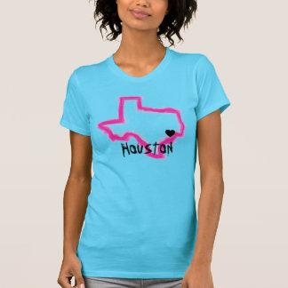 Houston Texas neon grunge ladies state tee