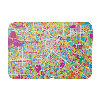 Houston, Texas | Neon Map Bath Mat