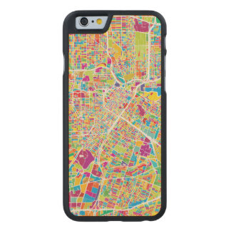 Houston, Texas | Neon Map Carved Maple iPhone 6 Case