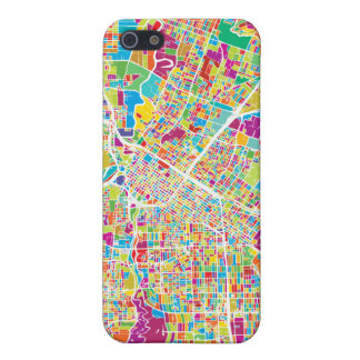 Houston, Texas | Neon Map Case For iPhone 5/5S