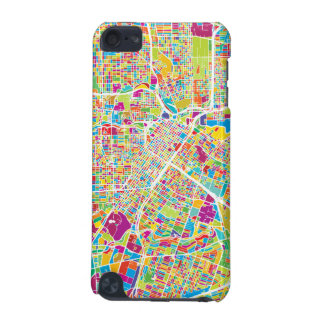 Houston, Texas | Neon Map iPod Touch (5th Generation) Cases