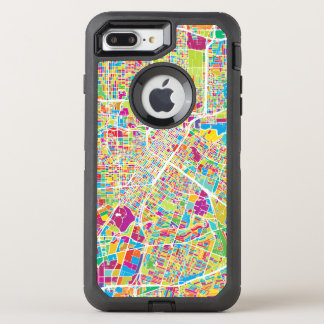 Houston, Texas | Neon Map OtterBox Defender iPhone 8 Plus/7 Plus Case