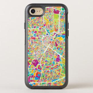 Houston, Texas   Neon Map OtterBox Symmetry iPhone 8/7 Case