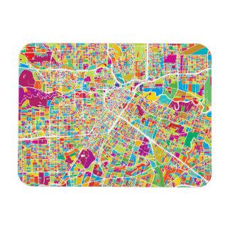 Houston, Texas | Neon Map Rectangular Photo Magnet