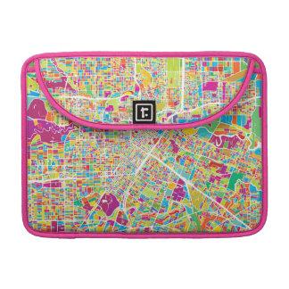 Houston, Texas | Neon Map Sleeve For MacBooks