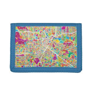 Houston, Texas | Neon Map Trifold Wallet