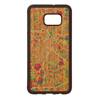 Houston, Texas | Neon Map Wood Samsung Galaxy S6 Edge Case