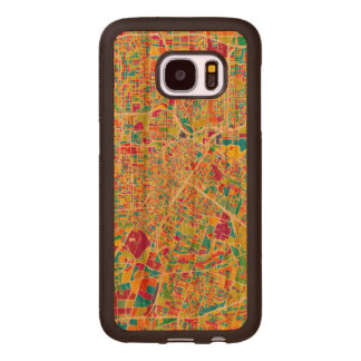 Houston, Texas | Neon Map Wood Samsung Galaxy S7 Case