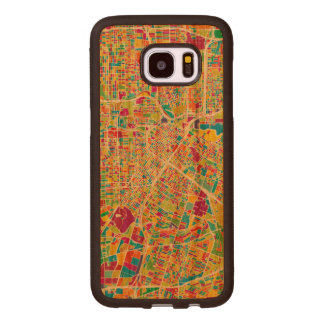 Houston, Texas | Neon Map Wood Samsung Galaxy S7 Edge Case