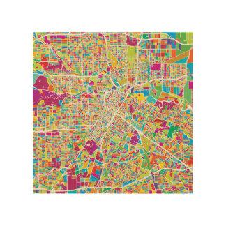 Houston, Texas | Neon Map Wood Wall Decor