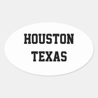 Houston Texas oval stickers