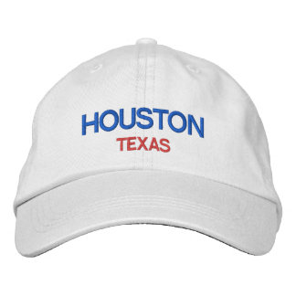 Houston Texas Personalized Adjustable Hat Embroidered Baseball Cap