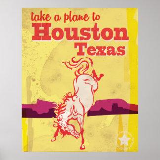 Houston, Texas Rodeo Vintage Travel Poster. Poster