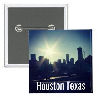 Houston Texas Skyline 2 Button