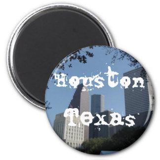 Houston Texas Skyline 6 Cm Round Magnet