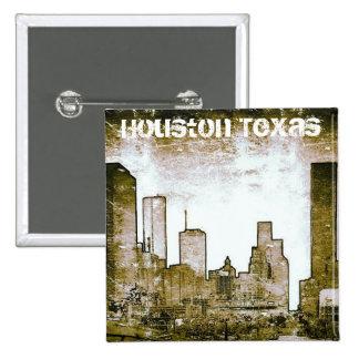 Houston Texas Skyline Art Button