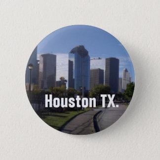 Houston Texas Skyline (Panoramic) 6 Cm Round Badge