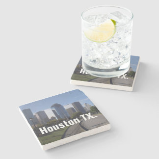 Houston Texas Skyline (Panoramic) Stone Coaster