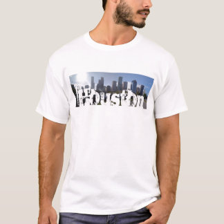 Houston Texas Skyline (Panoramic) T-Shirt