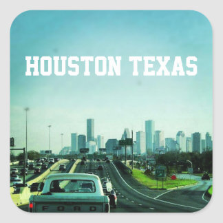Houston Texas Skyline (Sticker) Square Sticker
