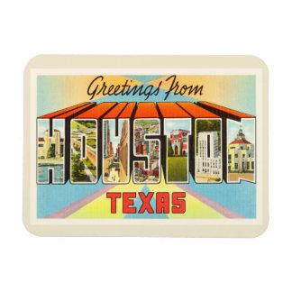 Houston Texas TX Old Vintage Travel Souvenir Rectangular Photo Magnet