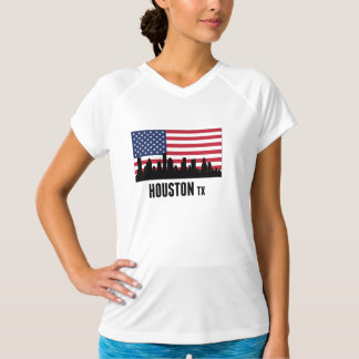 Houston TX American Flag T-Shirt