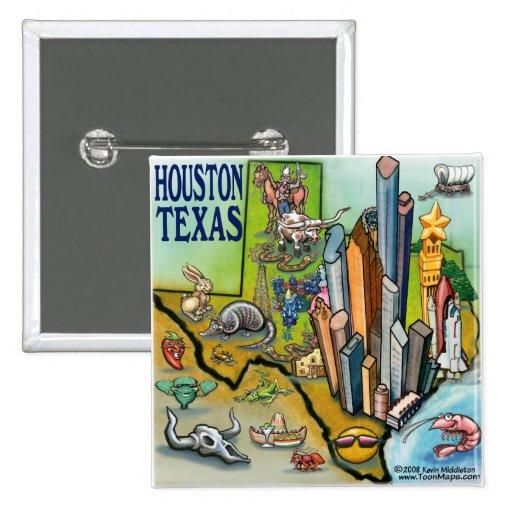 Houston TX Pinback Button