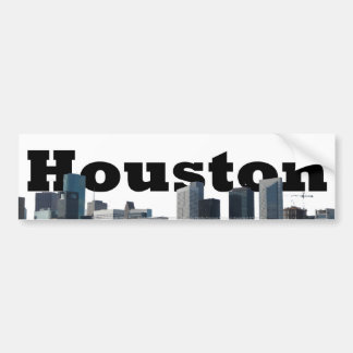 Houston, TX Skyline with Houston in the Sky Bumper Stickers