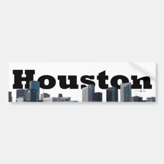 Houston, TX Skyline with Houston in the Sky Bumper Sticker