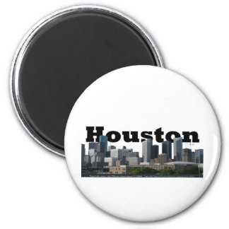 Houston, TX Skyline with Houston in the Sky Refrigerator Magnet