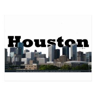 Houston, TX Skyline with Houston in the Sky Postcard