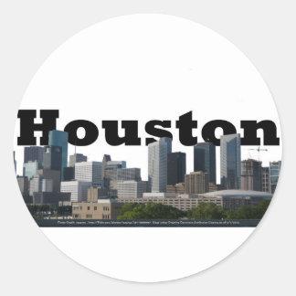 Houston, TX Skyline with Houston in the Sky Sticker
