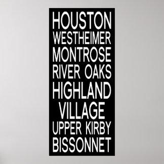 Houston Typography Posters