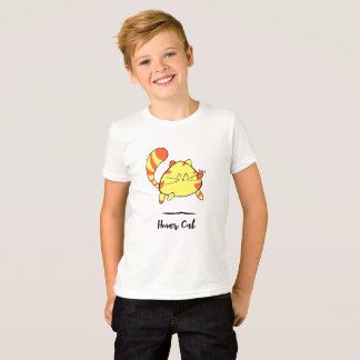 Hover Cat Fun Cartoon Cat Shirt for Kids