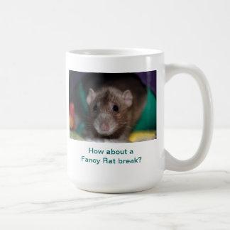 How About a Fancy Rat Break? Basic White Mug