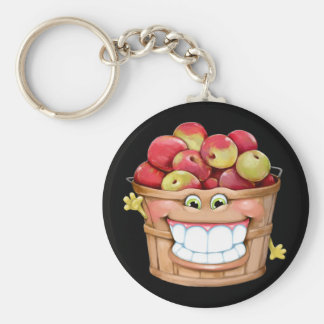How about them apples?!  Happy Apples! Basic Round Button Key Ring