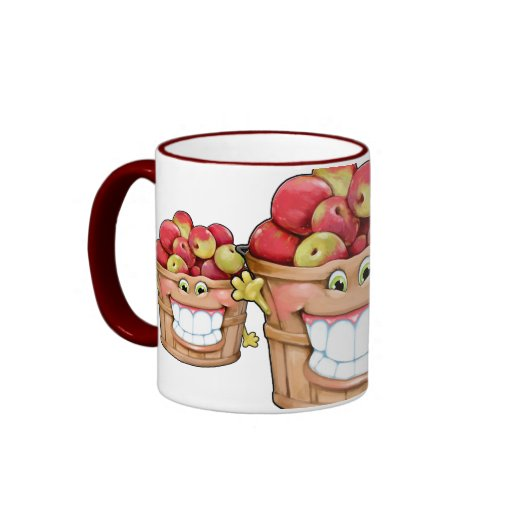 How about them apples?!  Happy Apples! Coffee Mugs