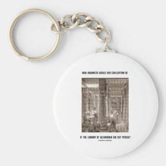 How Advanced Civilization Be If Library Alexandria Basic Round Button Key Ring
