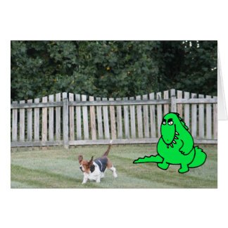 """""""How Are Things?"""" Card w/Monster Chasing Basset"""