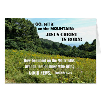How beautiful on the mountains-Christmas Card