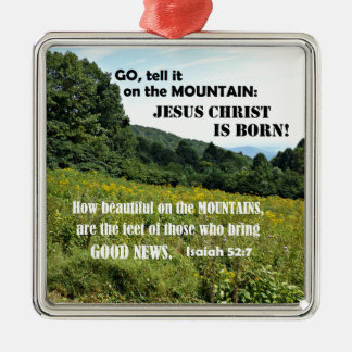 How beautiful on the mountains-Christmas Metal Ornament